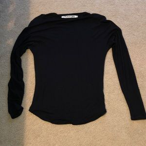 Michael Stars black long sleeve shirt OS